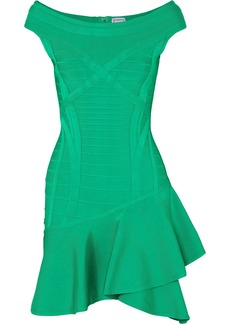Herve Leger Ruffled Bandage Mini Dress