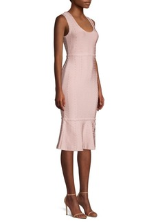Herve Leger Sleeveless Fluted Hem Dress