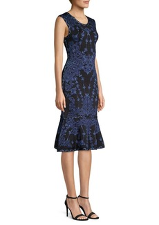 Herve Leger Sleeveless Jacquard Sheath Dress