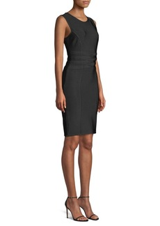 Herve Leger Sleeveless Sheath Bandage Dress
