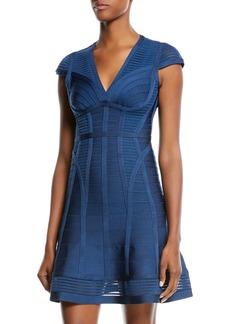Herve Leger Sonia Fit & Flare Bandage Mini Dress