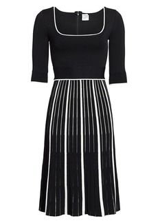 Herve Leger Squareneck Knit Dress