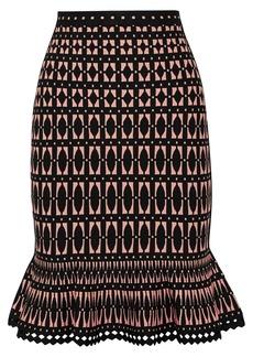 Herve Leger Stretch Jacquard-knit Skirt