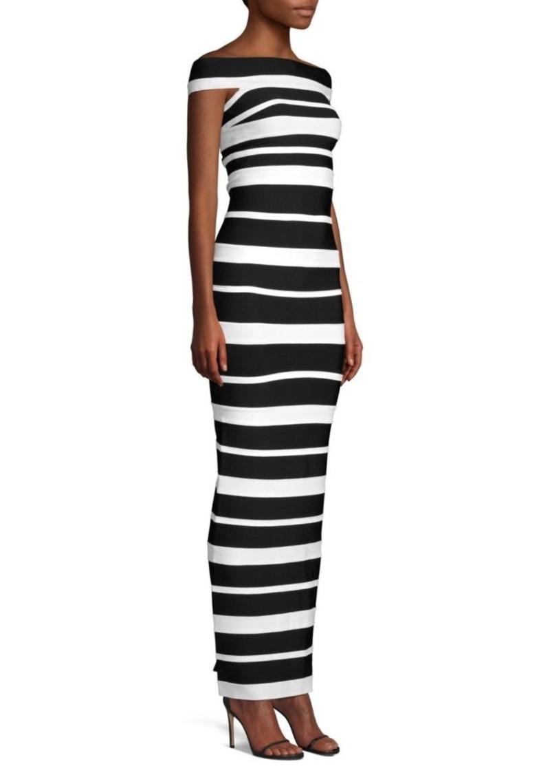 435212d1d Herve Leger Striped Column Gown   Dresses