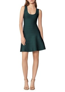 Herve Leger Textured Fit & Flare Dress