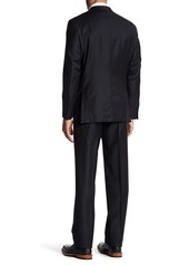 Hickey Freeman Charcoal 2-Button Notch Lapel Classic Fit Wool Suit