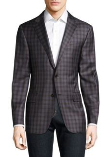 Hickey Freeman Checkered Wool Blazer