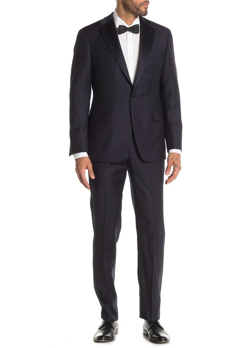 Hickey Freeman Heritage Fit Single Button Notch Lapel Wool Tuxedo