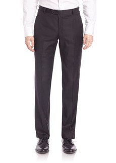 Hickey Freeman B Series Flat-Front Wool Pants