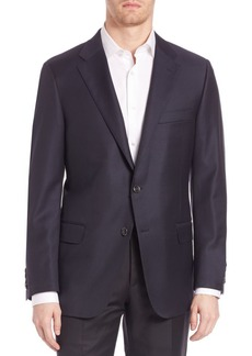 Hickey Freeman Beacon Worsted Wool Blazer