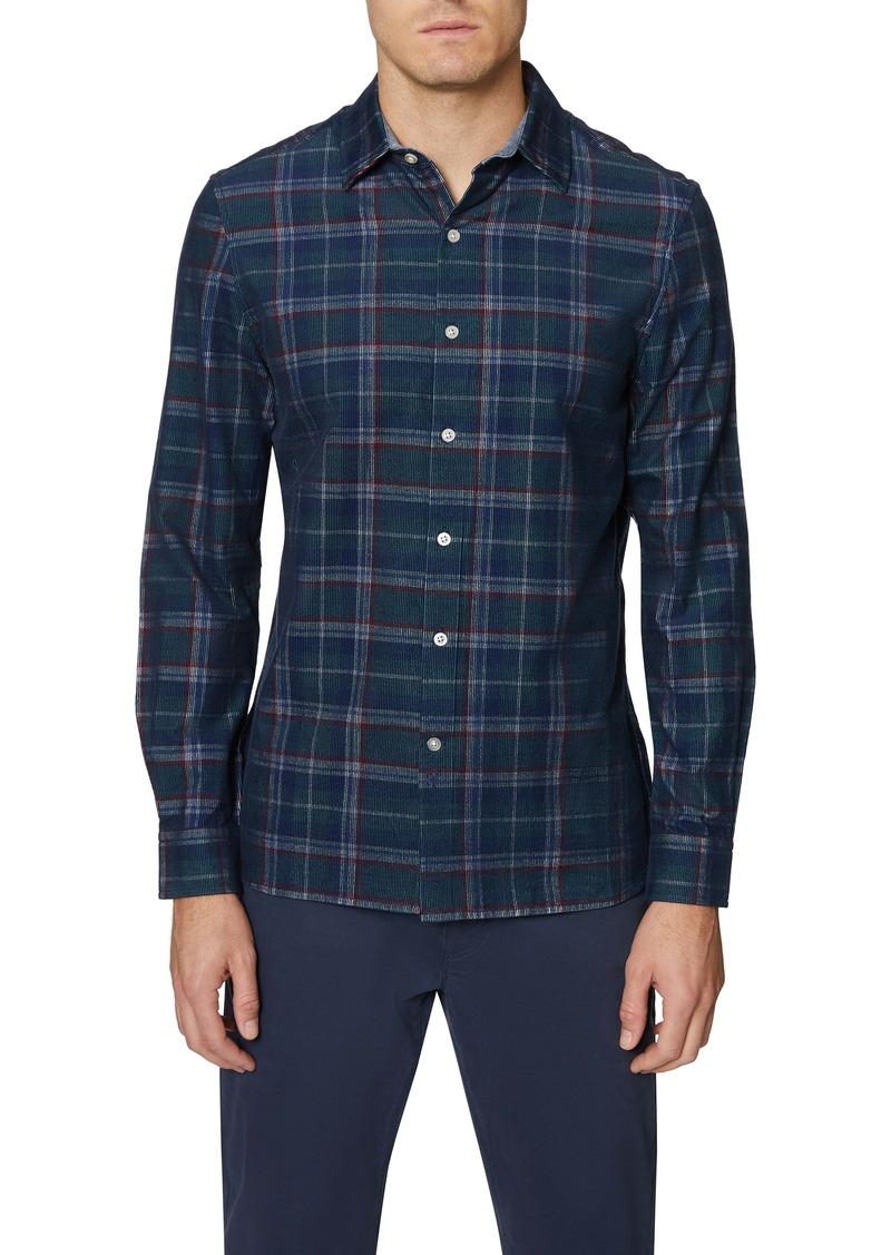 Hickey Freeman Bleecker Regular Fit Plaid Corduroy Button-Up Shirt