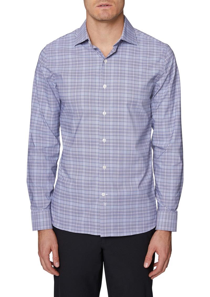 Hickey Freeman Bleeker Regular Fit Plaid Button-Up Shirt