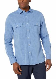 Hickey Freeman Button Down Regular Fit Shirt Blue