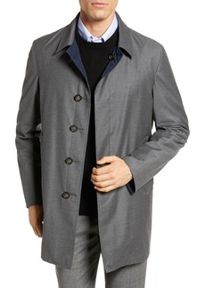 Hickey Freeman Classic Fit Reversible Wool & Silk Overcoat