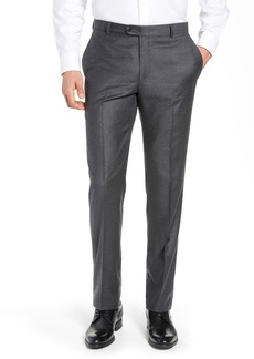 Hickey Freeman Classic Fit Solid Flannel Trousers