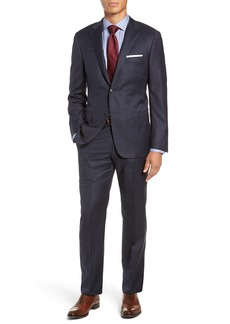 Hickey Freeman Classic Fit Stripe Wool Suit