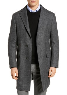 Hickey Freeman Classic Fit Wool Topcoat