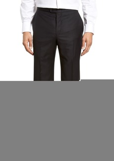 Hickey Freeman Classic B Fit Flat Front Wool Formal Trousers