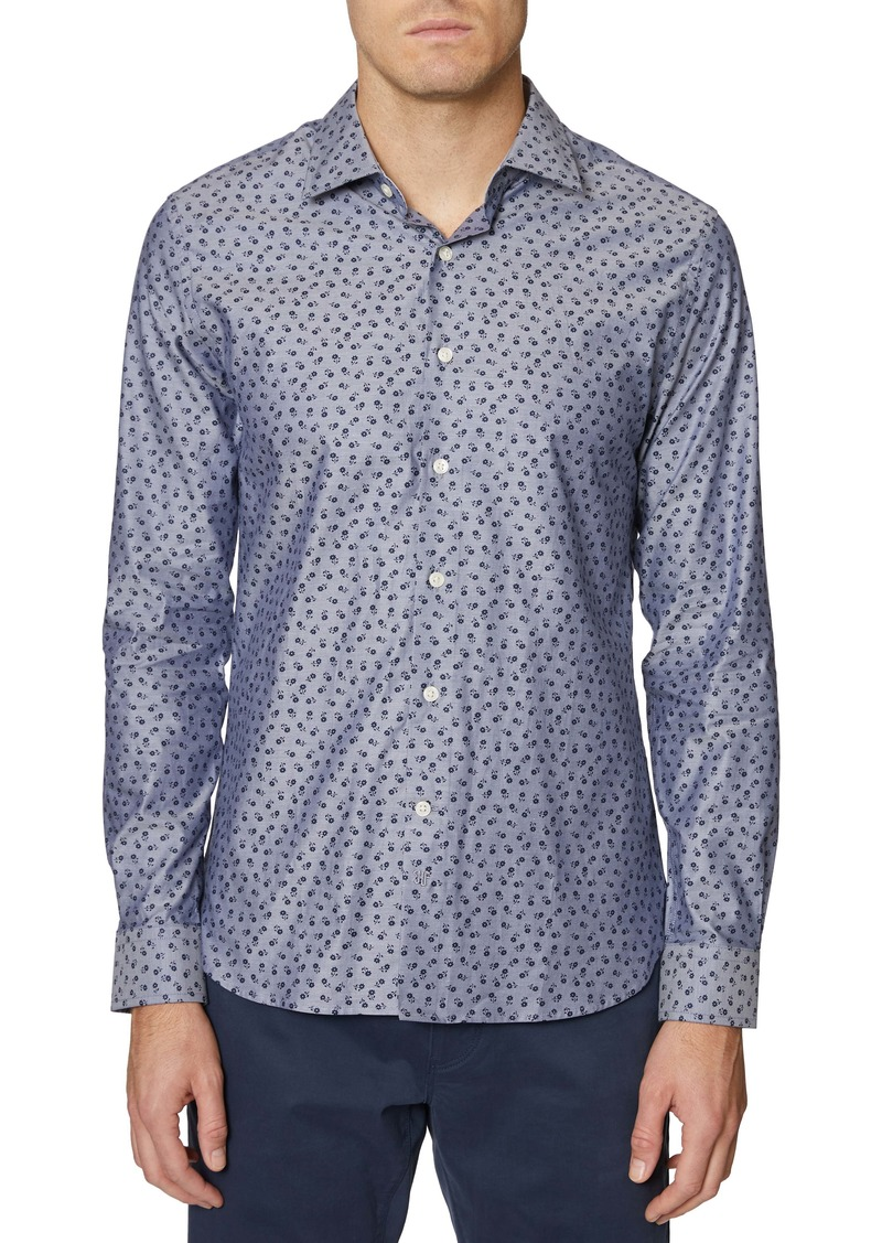 Hickey Freeman Floral Print Regular Fit Shirt