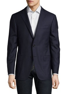 Hickey Freeman Graphic Wool Blazer
