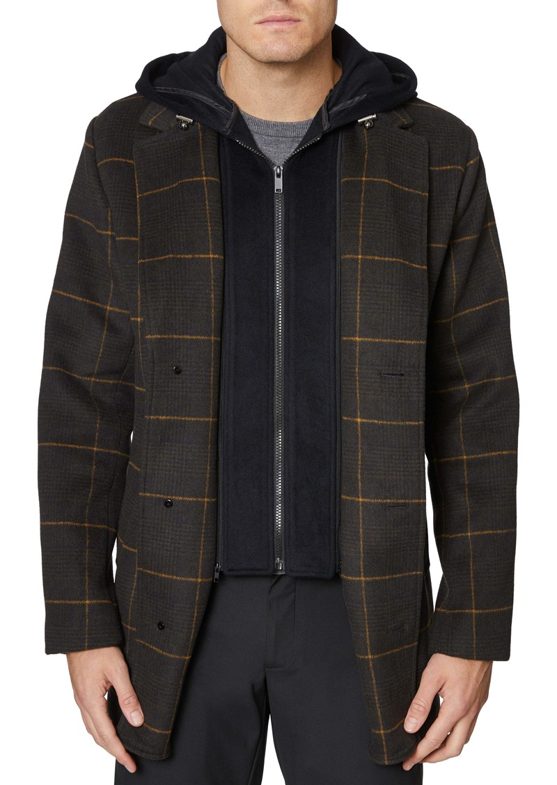 Hickey Freeman Hybrid Hooded Coat