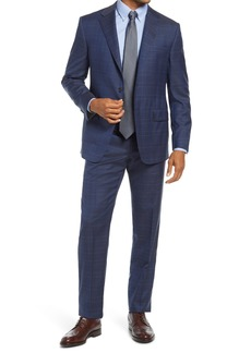 Hickey Freeman Infinity Classic Fit Plaid Wool Suit