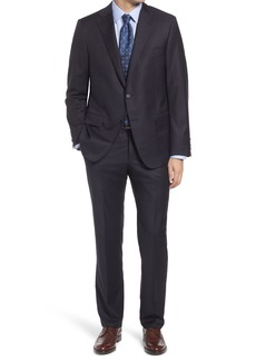 Hickey Freeman Infinity Classic Fit Solid Wool Suit