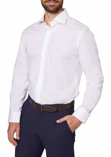 """Hickey Freeman Men's Contemporary Fitted Long Dress Shirt  17"""" Neck 34-35"""" Sleeve"""