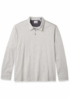 Hickey Freeman Men's Long Sleeve Cotton Polo Shirt  XXL