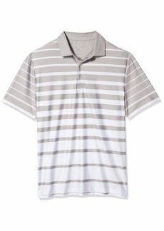 Hickey Freeman Men's Printed Stripe Polo