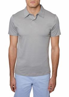 Hickey Freeman Men's Regular Fit Short Sleeve Core 2 Button Cotton Polo Shirt