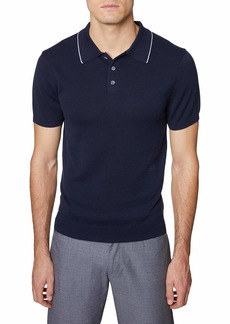 Hickey Freeman Men's Short Sleeve 3 Button Polo Sweater