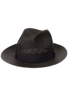 Hickey Freeman Men's Straw Fedora Hat