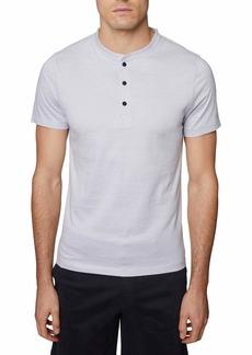 Hickey Freeman Men's Three Button Short Sleeve Henley Shirt