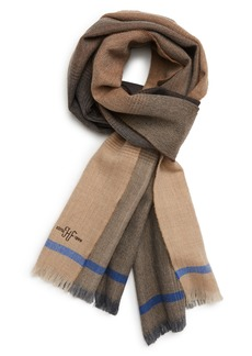 Hickey Freeman Ombré Colorblock Merino Wool Scarf