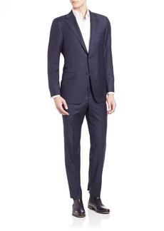 Hickey Freeman Pinstriped Woolen Suit