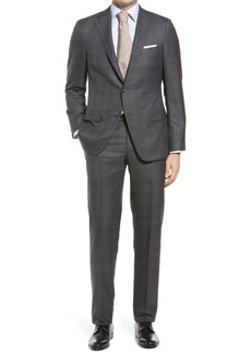 Hickey Freeman Plaid Classic Fit Loro Piana Wool Suit