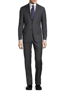 Hickey Freeman Plaid Worsted Wool Two-Piece Suit