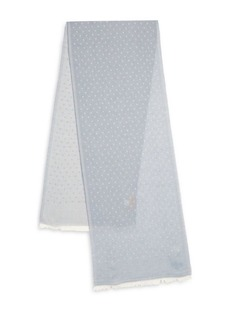 Hickey Freeman Polka Dot Printed Scarf