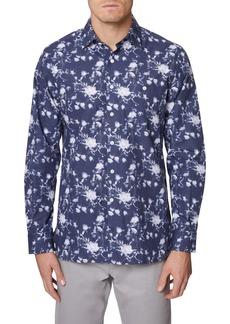 Hickey Freeman Rockefeller Floral Button-Up Shirt