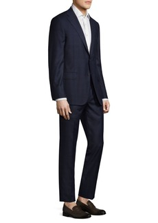 Hickey Freeman Slim-Fit Plaid Tasmanian Wool Suit