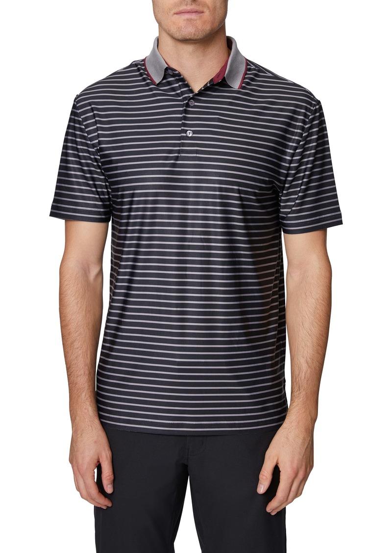 Hickey Freeman Stripe Golf Polo