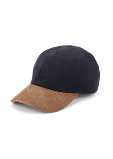 Hickey Freeman Wool & Suede Baseball Cap