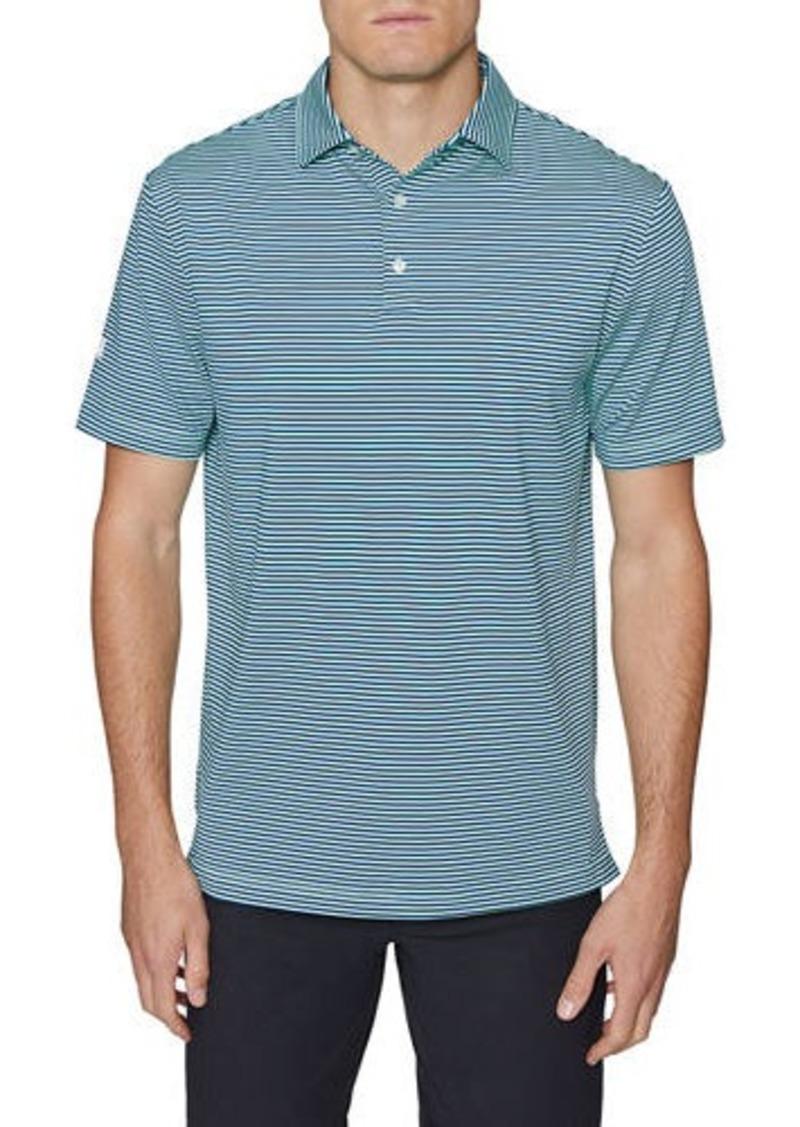Hickey Freeman Men's Club Stripe Polo Shirt