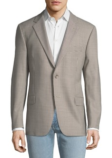 Hickey Freeman Men's Fancy Wool Gingham Sport Coat