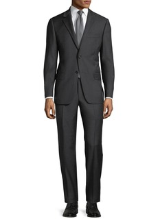 Hickey Freeman Men's Heathered Two-Piece Wool Suit