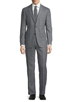 Hickey Freeman Men's Herringbone-Check Two-Piece Suit