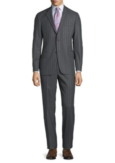 Hickey Freeman Men's Pinstriped Two-Piece Suit