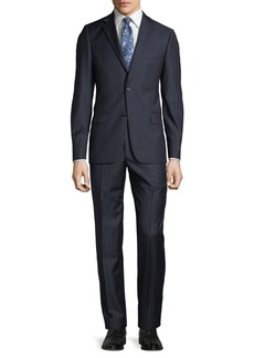 Hickey Freeman Men's Pinstriped Two-Piece Wool Suit