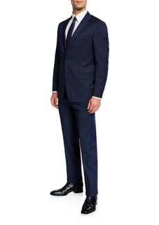 Hickey Freeman Men's Two-Piece Chalk-Striped Suit